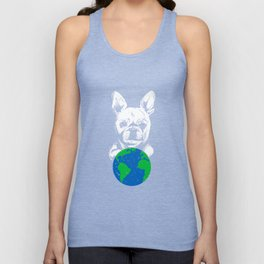 French Bulldog Say Happy Earth Day T-Shirt Save Mother Earth Unisex Tank Top
