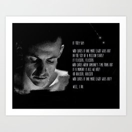 One More Light   Chester Bennington Inspired Lyric Art Print Art Print