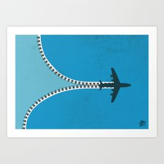 Unzip the sky Art Print