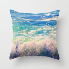 Aqua Mist Throw Pillow