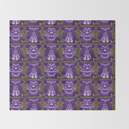 A Parliament of Owls Plum Throw Blanket