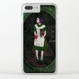 Lost in a fairytale Clear iPhone Case