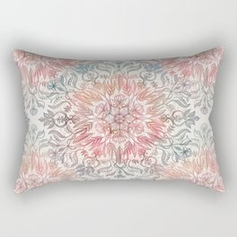Autumn Spice Mandala in Coral, Cream and Rose Rectangular Pillow
