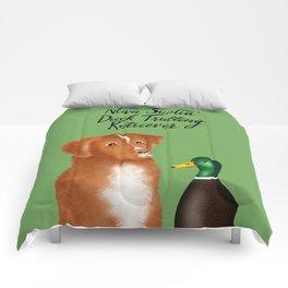 Nova Scotia Duck Trolling Retriever (Green) Comforters