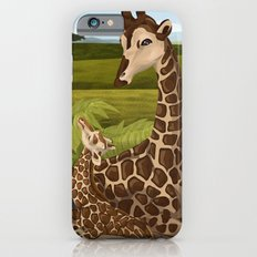 Giraffes, A Mother's love iPhone 6s Slim Case