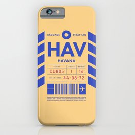 Luggage Tag D - HAV Havana Cuba iPhone Case