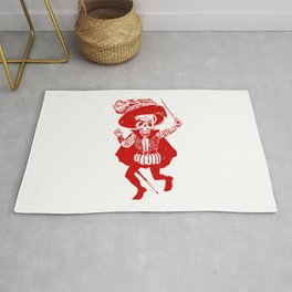 Skeleton Pirate With Dagger Rug