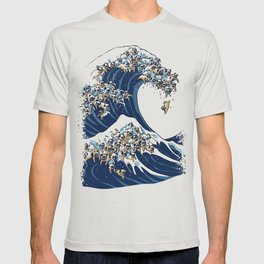 The Great Wave of Pug T-shirt