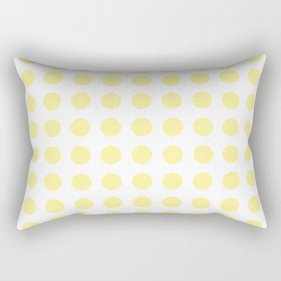 Simply Polka Dots in Pastel Yellow Rectangular Pillow