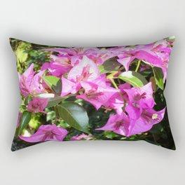 Purple Pink Bougainvillia In Blossom  Rectangular Pillow