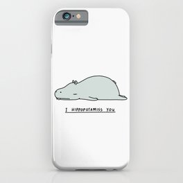 I Hippopotamiss You iPhone Case