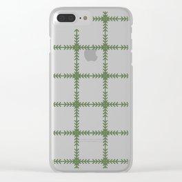 Arrows Grid Pattern - Kale Clear iPhone Case