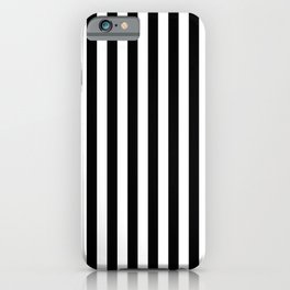 Abstract Black and White Vertical Stripe Lines 10 iPhone Case