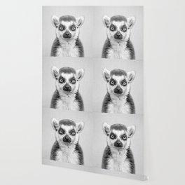 Lemur 2 - Black & White Wallpaper