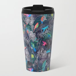 Birds and Flowers Color Pencil Travel Mug