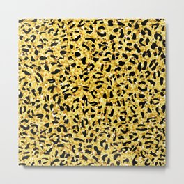Leopard seamless pattern. Animal print Metal Print