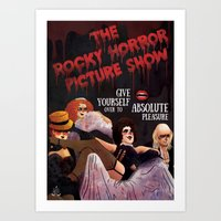 rocky horror Art Prints featuring Rocky Horror by Luiza Abend