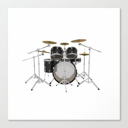 Black Drum Kit Canvas Print