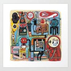 Bananatomique Art Print