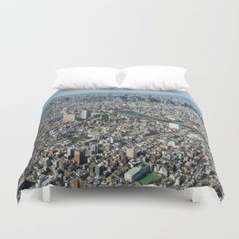 Tokyo Areal View Duvet Cover