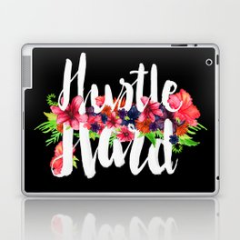 Hustle Hard - Black Floral Laptop & iPad Skin