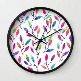 Leafy Twigs - Bright Wall Clock