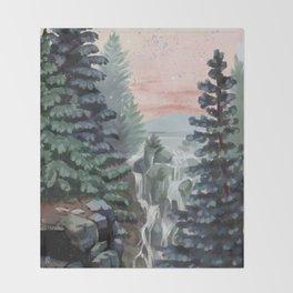 Mount Rainier National Park (Pastel Sunset) Throw Blanket