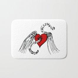 Heart Music Bath Mat