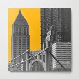 Pittsburgh Steel City Skyline Pennsylvania 412 Downtown Photography Print Metal Print