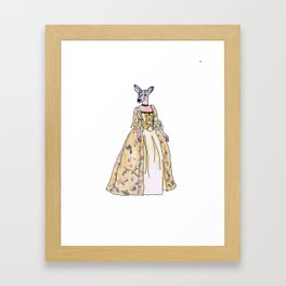 Lady Deer Framed Art Print