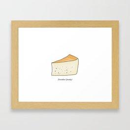Idiazábal - smoky cheese Framed Art Print