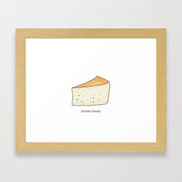 Idiazábal - smoky cheese Framed Art Print