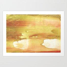 Yellow red Art Print