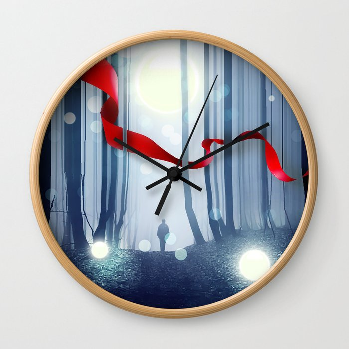 Forest Ribbon Wall Clock
