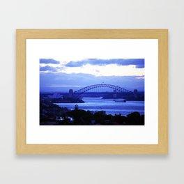 Sydney Oprah House & Bridge, NSW, Australia Framed Art Print