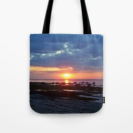 Sunset under Stormy Skies Tote Bag