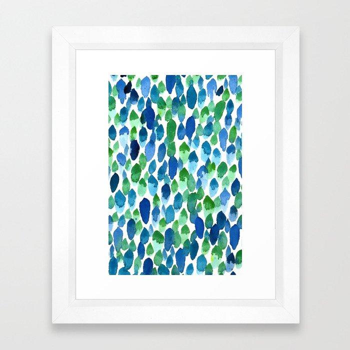 Clean Rain Framed Art Print