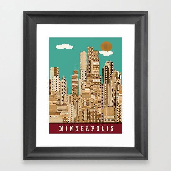 Minneapolis skyline Framed Art Print