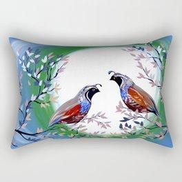 Quails and Serenity Rectangular Pillow