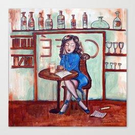 Cafe Quotidien Canvas Print
