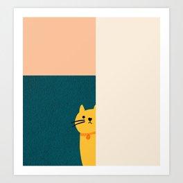 Little_Cat_Cute_Minimalism Art Print