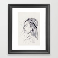 Lily III Black and White Framed Art Print