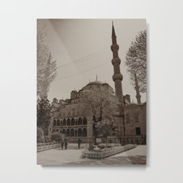 "Sultan Ahmed Mosque (""Blue Mosque"", Istanbul, TURKEY) Metal Print"