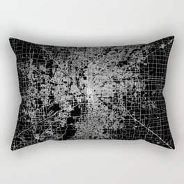 Indianapolis map Rectangular Pillow