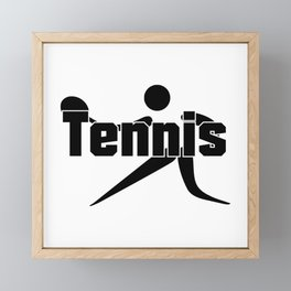 Tennis Framed Mini Art Print