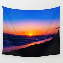 outstanding sunset Wall Tapestry