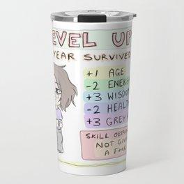 Level Up birthday -scribble Travel Mug
