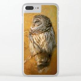 Ollie In Autumn Clear iPhone Case