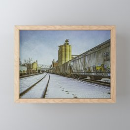 Cold Trains, heh heh. Framed Mini Art Print