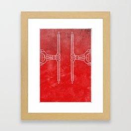 Spaceship - Tie Framed Art Print